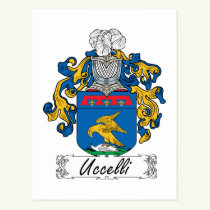Uccelli Family Crest Postcard