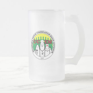 UCEM Latin Beer Frosted Glass Beer Mug