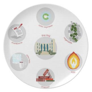 UChicago-themed Seder plate