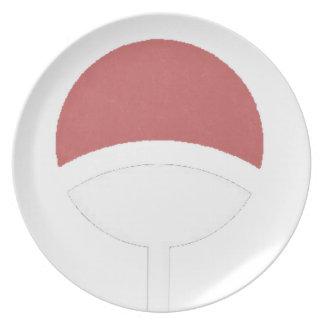Uchiha label melamine plate