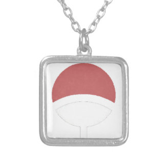 Uchiha label silver plated necklace