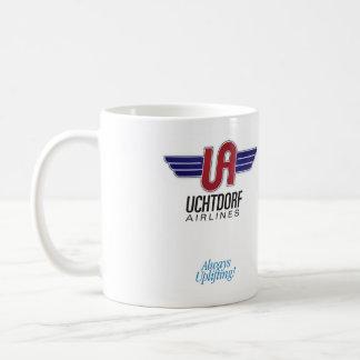 Uchtdorf Airlines. Hot chocolate mug. Classic White Coffee Mug