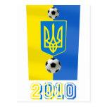 Ucrania 2010 regalos del fútbol del fútbol de la b tarjetas postales