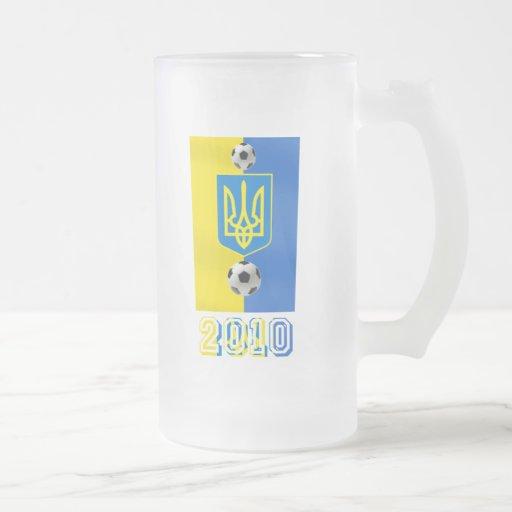 Ucrania 2010 regalos del fútbol del fútbol de la b taza de café