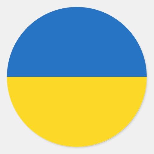 Ucrania - bandera ucraniana etiquetas redondas