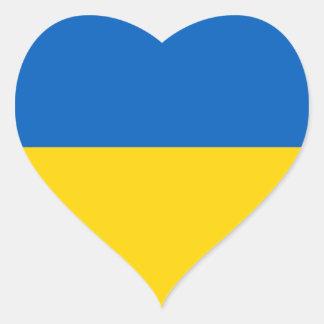 Ucrania bandera ucraniana colcomanias corazon personalizadas