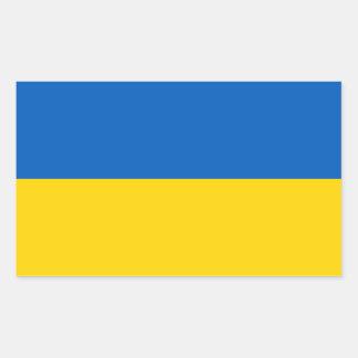 Ucrania - bandera ucraniana pegatina rectangular