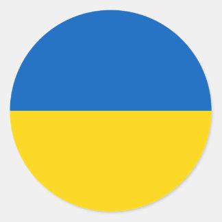 Ucrania - bandera ucraniana pegatina redonda