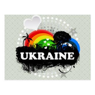 Ucrania con sabor a fruta linda tarjetas postales