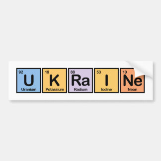 Ucrania hizo de elementos etiqueta de parachoque
