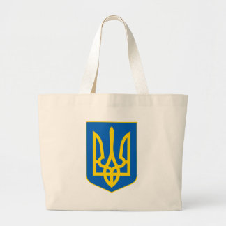 Ucrania poco escudo de armas bolsa tela grande