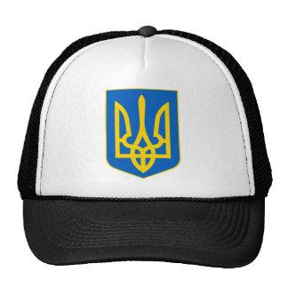 Ucrania poco escudo de armas gorras