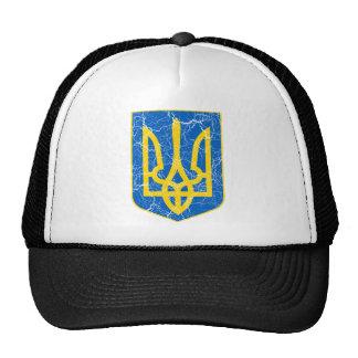 Ucrania poco escudo de armas gorro