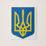 Ucrania poco escudo de armas puzzle