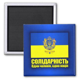 Ucrania (solidaridad - una personas, una nación) imán cuadrado
