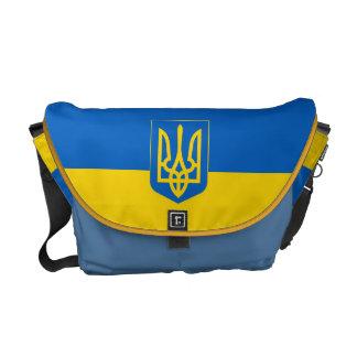 Ucrania Trident en medio azul de la bandera Bolsa De Mensajería