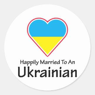 Ucraniano feliz casado etiquetas