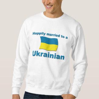 Ucraniano feliz casado suéter