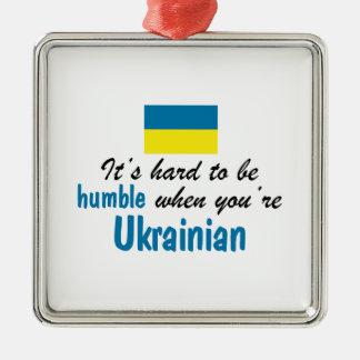 Ucraniano humilde ornamento para arbol de navidad