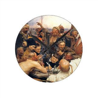 Ucraniano Kozaky/Cossacks por Repin Reloj Redondo Mediano
