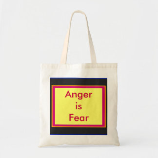 !   UCreate Anger is Fear Canvas Bags