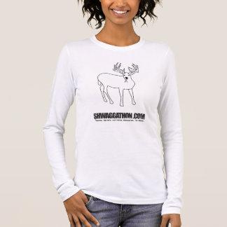 UCSC Smoking Deer Ladies'  White Long Sleeve Shirt