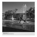 UCSD Students and Fountain by Ansel Adams Poster