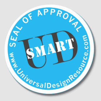 UD-Smart Seal of Approval Round Stickers