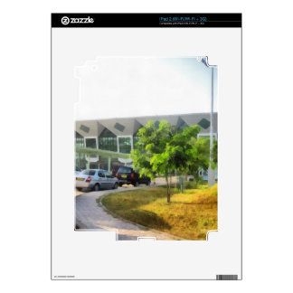 Udaipur airport and cars in front iPad 2 skin
