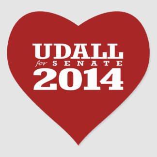 UDALL FOR SENATE 2014 HEART STICKERS
