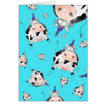 Udder-ly Amazing Cartoon Cow Birthday Card