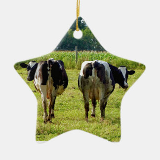 Udder Viewpoints Ceramic Ornament