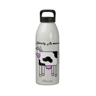 Udderly Uno-MOO-canta el dibujo animado divertido Botellas De Agua Reutilizables