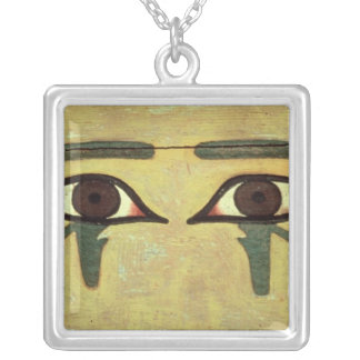 Udjat Eyes on a Coffin, Middle Kingdom Silver Plated Necklace