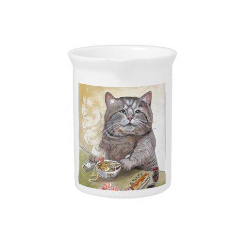 Udon del Tempura del gato del sushi Jarron