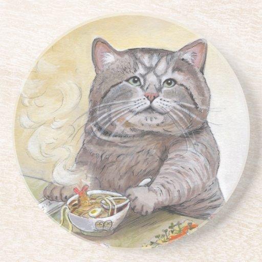 Udon del Tempura del gato del sushi Posavasos Manualidades