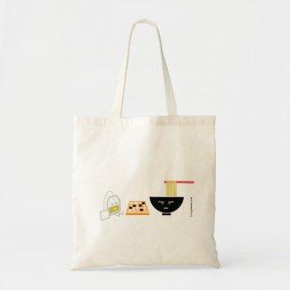 Udon & Green Tea Bag Playing Go Tote Bag (TBA) bag