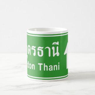 Udon Thani Ahead ⚠ Thai Highway Traffic Sign ⚠ Mugs