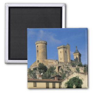 UE, Francia, Foix, Ariege, los Pirineos. Castillo  Imán Cuadrado