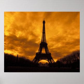 UE, Francia, París.  Torre de Eiffel Póster
