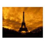 UE, Francia, París.  Torre de Eiffel Tarjeta Postal