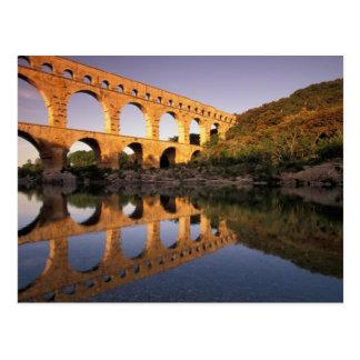 UE Francia Provence Gard Pont du Gard 2 Tarjeta Postal
