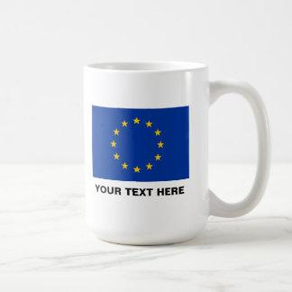 UE grande Europa de la taza de café de la bandera