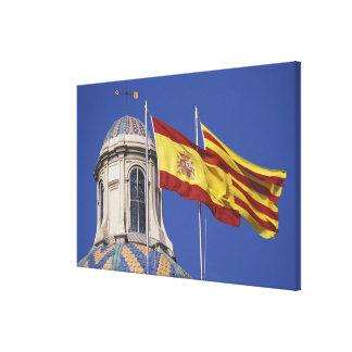 UE, la Generalitat. de España, Cataluña, Palau de Impresion En Lona