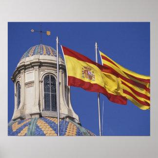 UE, la Generalitat. de España, Cataluña, Palau de Póster