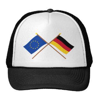 UE y banderas cruzadas Alemania Gorra