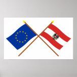 UE y banderas cruzadas Austria Impresiones