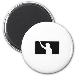 UEFL Black & White Logo 2 Inch Round Magnet