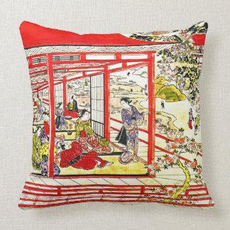 Ueno Park Cherry Blossoms 1725 Throw Pillow