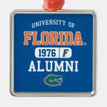 UF  Alumni Logo Square Metal Christmas Ornament
